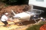 Man constructs homebuilt airplane in basement, knocks down wall to get it out