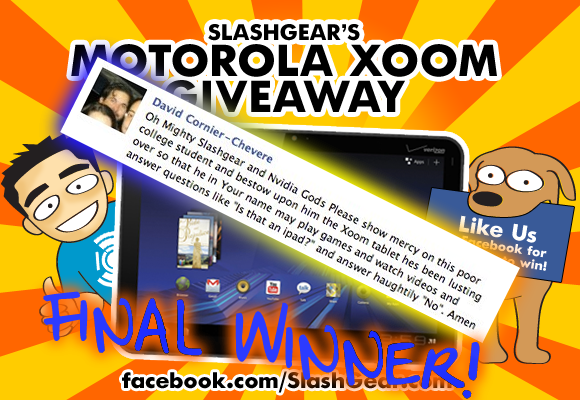 SlashGear XOOM Contest Final Winner Announced!