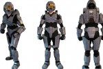 Halo Master Chief suite made from LEGO