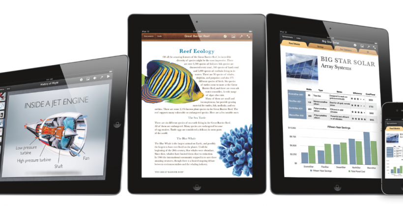 Apple iWork Apps Available NOW for iPhone and iPod touch