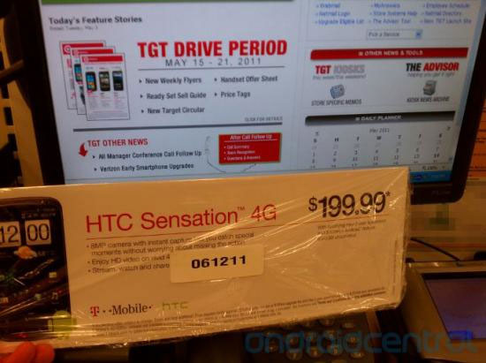 Target to offer HTC Sensation 4G for $199.99