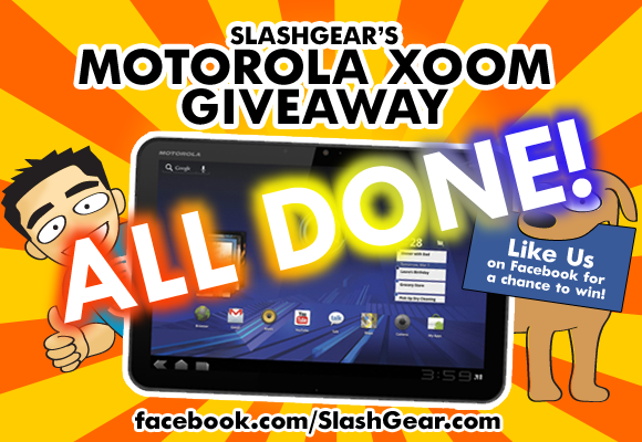 SlashGear's Gigantic XOOM Tablet Giveaway is Over! Thank You to Everyone!