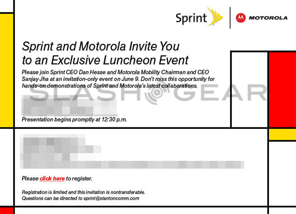 Sprint / Motorola Event on June 9th [Piet Mondrian Themed Dual-Core?]
