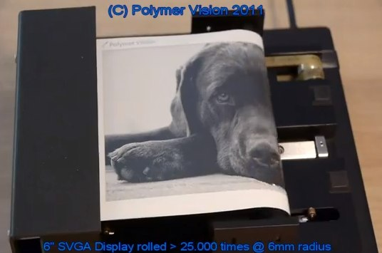 Polymer Vision 6″ rollable display demoed; Phone/tablet hybrid teased [Video]