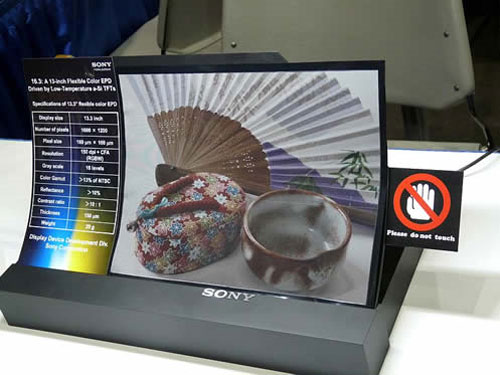 Sony shows off flexible color e-paper screen at SID 2011