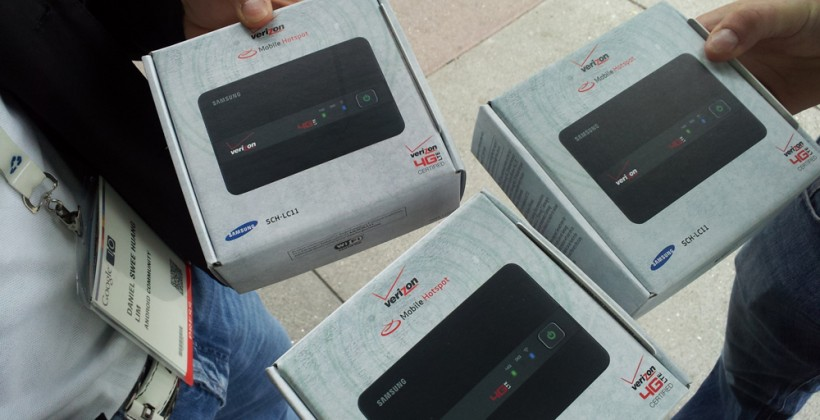 Google I/O Day 2 Giveaway In Hand: Verizon 4G LTE Mobile Hotspot