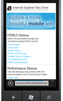 Microsoft Launches Internet Explorer 9 Mobile Test Drive - SlashGear