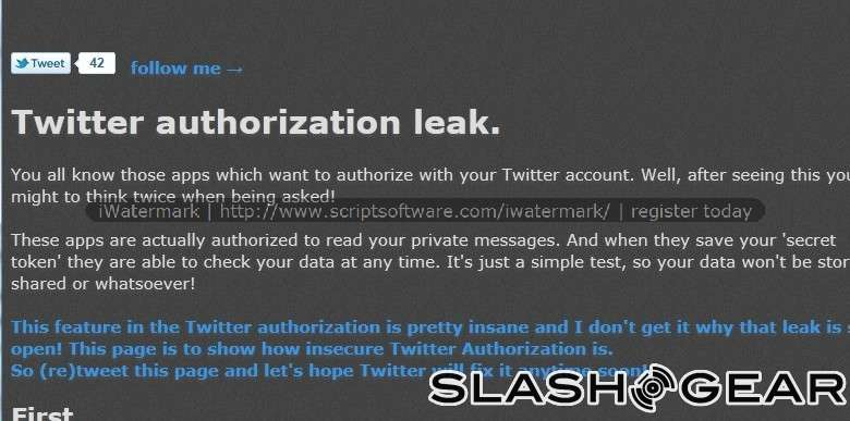 Third Party Twitter Apps can Access Private Messages Without Your Authorization