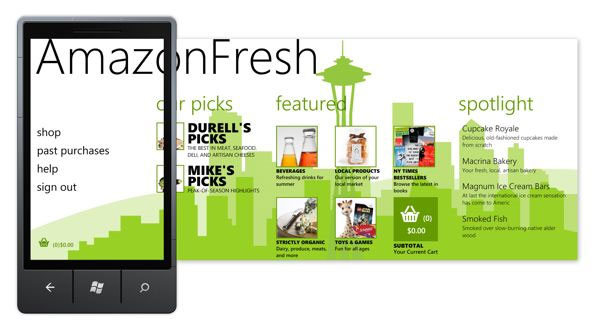 Windows Phone is first platform to get AmazonFresh app for grocery shopping