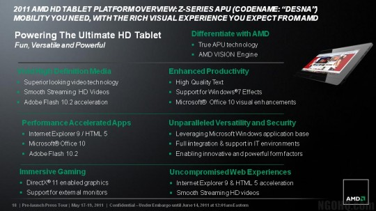 AMD Trinity APU confirmed for 2012; Z-Series for tablets imminent