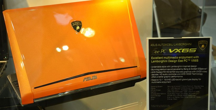 ASUS Lamborghini Eee PC VX6S Features AMD Graphics, 3D Display Possible?