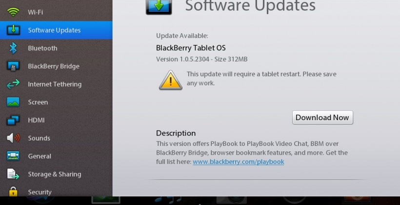 PlayBook gets OS Update, Not the One We Were Waiting For