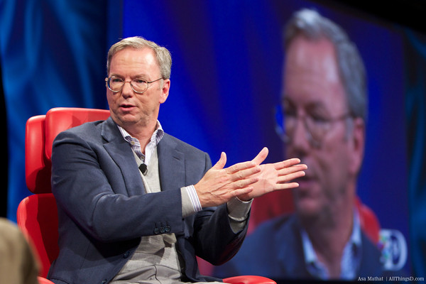 "Google's Schmidt: ""I screwed up"" on Facebook competition; Microsoft not a platform player"