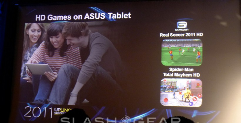 ASUS Eee Pad MeMO Shows off HD Games at Uplinq 2011