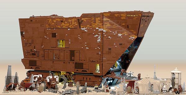 LEGO-licious Star Wars Sandcrawler used 10,000 bricks