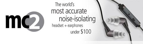 Etymotic mc2 noise isolating headset works on any platform