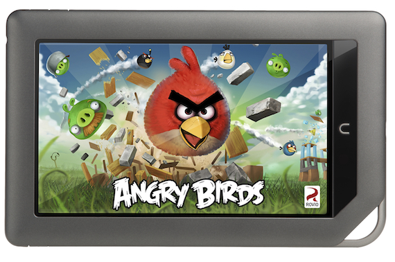 Nook Color First To Get Angry Birds With Location-Based Magic Places