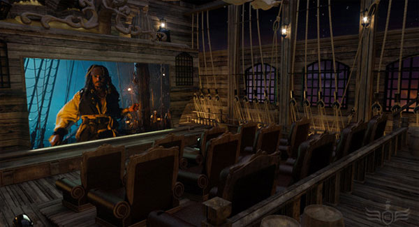 Pirate home theater would be at home on the Black Pearl