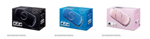 PSP-3000 Value Pack in new limited edition colors coming to Japan