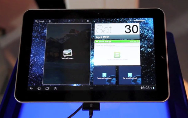 Galaxy Tab 8.9 to use dimmer, fatter screen in some areas at launch