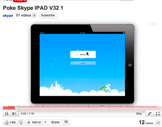 Skype For iPad App Demo Video Leaks