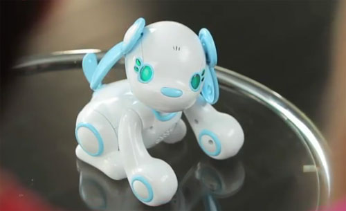 Wappy Dog for Nintendo DS controls a real robot puppy