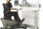 Elliptical Machine Office Desk makes you workout while you work