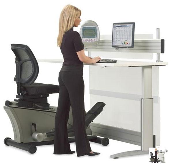 Elliptical Machine Office Desk - train, work, burn, collapse.? The Red Ferret Journal