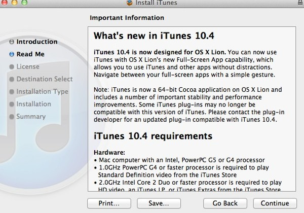 iTunes 10.4 and iWork 6 Updates Released For OS X Lion Full-Screen Support