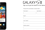 Samsung Galaxy S II Sign-Up Page For US Goes Live