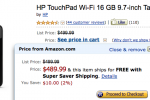HP TouchPad Discounted On Amazon, Best Buy