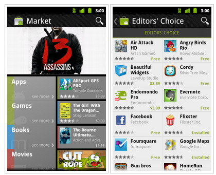 Google Updates Android Market With Books And Movies