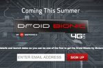 DROID BIONIC Signup Page Live at Verizon