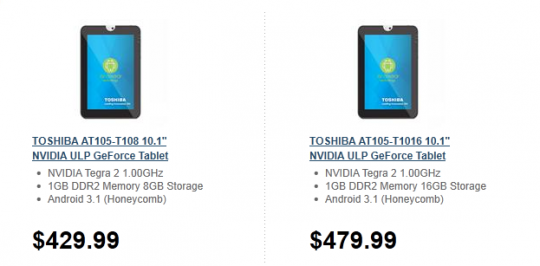 Toshiba Thrive Lands At Newegg With Free Shipping