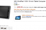 MSI Windpad 110w AMD Z-Series Dual-Core Tablet Officially up for Pre-Order at Amazon