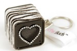 chicBuds unveils new zebra chicboom keychain speaker