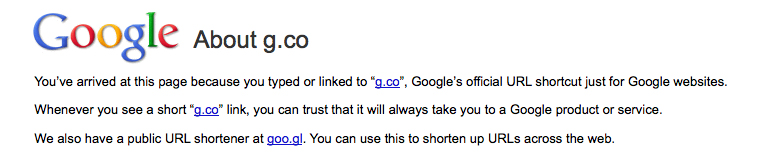 Google Buys G.Co As Official URL Shortcut For Google Products