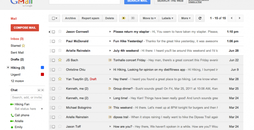 Gmail and Calendar refreshed with Google+ matching themes
