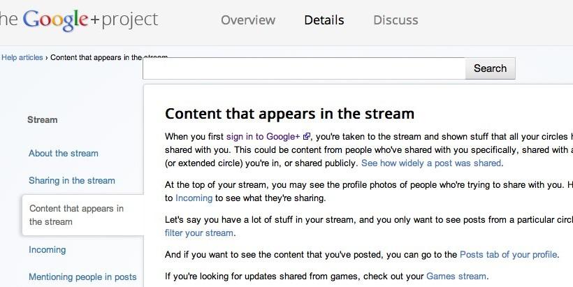 Google+ Games Stream confirmed