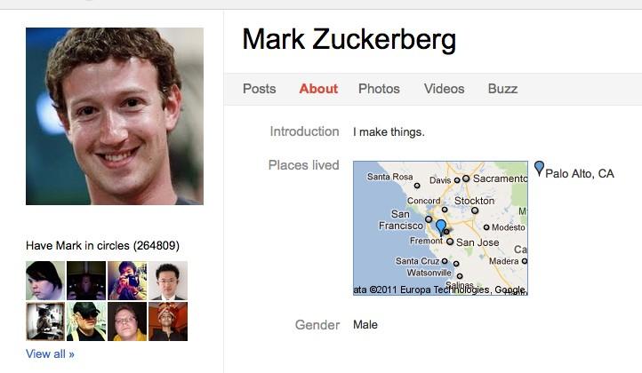 Zuckerberg And 62 Facebook Employees On Google+