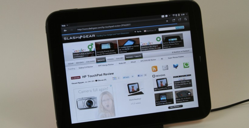 HP TouchPad update due in ten days time