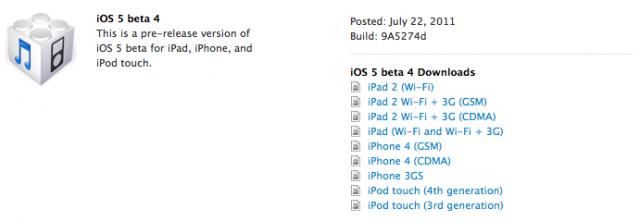 iOS 5 Beta 4 Released As Apple's First OTA Update