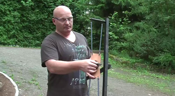 Joerg Sprave creates a new slingshot that flings iPhones