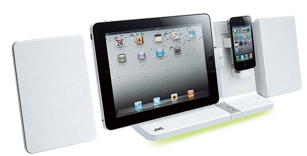 JVC Victor unveils new dual iPhone and iPad docking station audio system