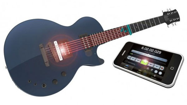 Guitar has freakin' lasers to detect pitch