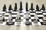 LensRentals builds a chess set out of DSLR lenses