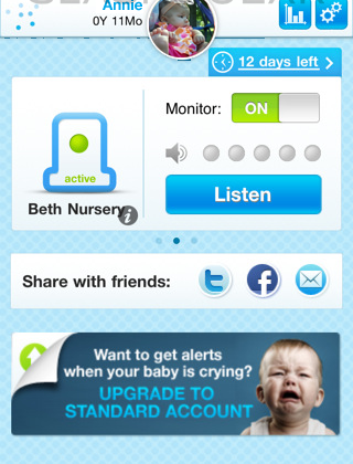 Evoz Baby Monitor App for iPad, Most Expensive Solution Yet
