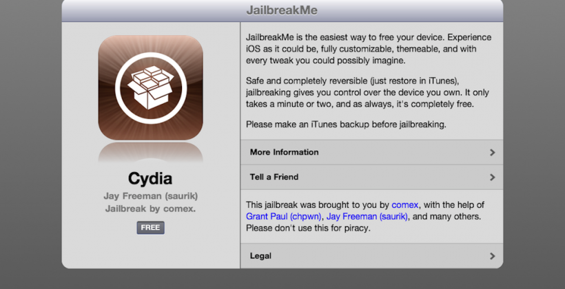 iPad 2 Jailbreak released as JailbreakMe.com updated