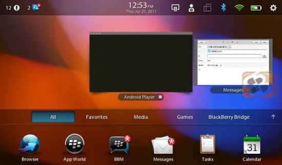 Android App Player Leaks for BlackBerry PlayBook