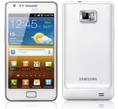 White Samsung Galaxy S II gets official